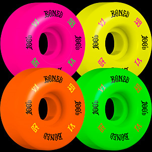 BONES WHEELS 100 Skateboard Wheels V1 Standard 53mm 100A 4pk Multi