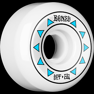 BONES WHEELS SPF Arrows Skateboard Wheels 84B Sidecuts 60mm 4pk White