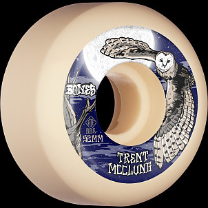 BONES WHEELS PRO STF Skateboard Wheels Trent McClung Barn Owl 52mm V5 Sidecut 99A 4pk