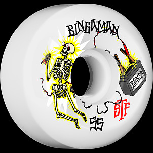 BONES WHEELS STF Pro Bingaman Zapped Skateboard Wheels Sidecuts 55mm 4pk