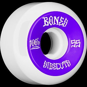 BONES WHEELS 100 #2 V5 Skateboard Wheel 55mm 4pk White