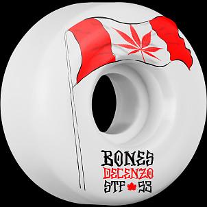 BONES WHEELS STF Pro Decenzo Flowers Skateboard Wheels 53mm 4pk