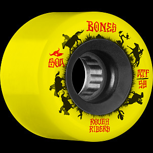 BONES WHEELS ATF Rough Rider Skateboard Wheels Wranglers 59mm 80a 4pk Yellow