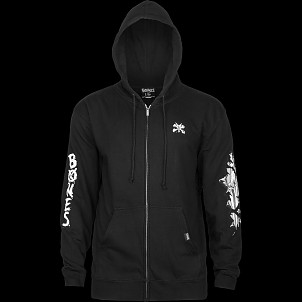 BONES WHEELS Shred Zip Sweatshirt Black