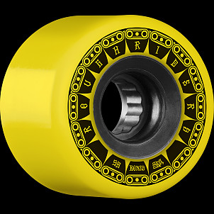 BONES WHEELS ATF Rough Rider Tank Skateboard Wheel 59mm 80a 4pk Yellow