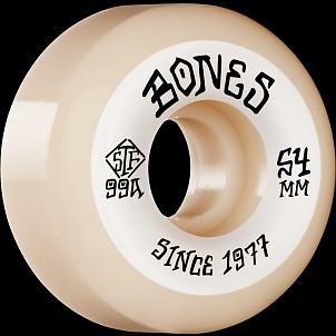 BONES WHEELS STF Skateboard Wheels Heritage Roots 54 V5 SIDECUT 99A 4pk