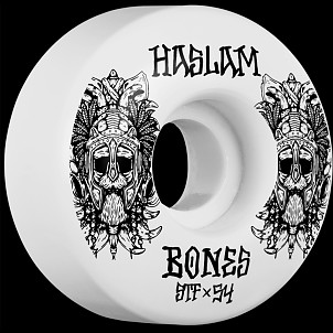 BONES WHEELS STF Pro Haslam Ragnar Skateboard Wheels V3 Slims 54mm 103A 4pk