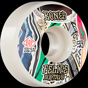 BONES WHEELS PRO STF Skateboard Wheels Gustavo Bed-Stuy 53mm V1 Standard 103A 4Pk