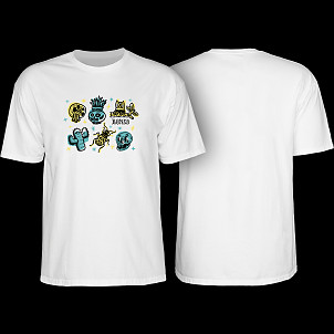 BONES WHEELS Earth Rollers T-shirt White
