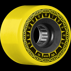 BONES WHEELS ATF Rough Rider Tank Skateboard Wheel 56mm 80a 4pk Yellow