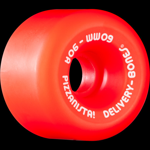 BONES WHEELS X PIZZANISTA! Delivery Bones Wheels 60mm O.G. Formula Rat Bone Red