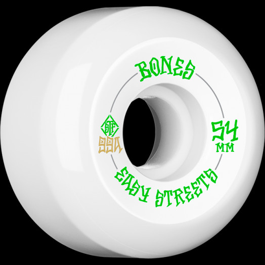 BONES WHEELS STF Easy Streets Skateboard Wheels V5 54mm 99a 4pk