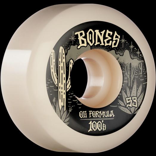 BONES WHEELS OG Formula Skateboard Wheels Desert West 53mm V5 Sidecut  4pk White