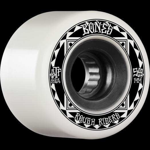 BONES WHEELS ATF Rough Rider Skateboard Wheels Runners 59mm 80a 4pk White