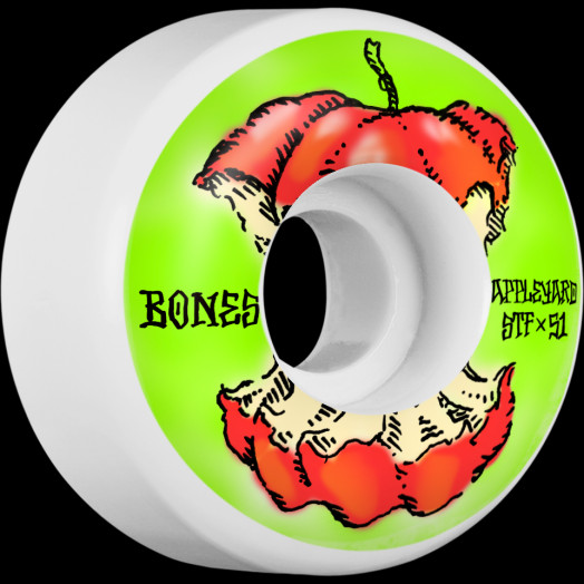 BONES WHEELS STF Pro Appleyard Apple Skateboard Wheels V2 Locks 51mm 4pk