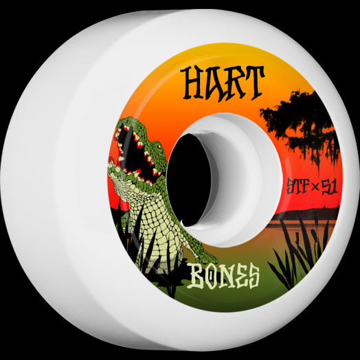 BONES WHEELS STF Pro Hart Gator Bait Skateboard Wheels V5 Sidecut 51mm 103A 4pk