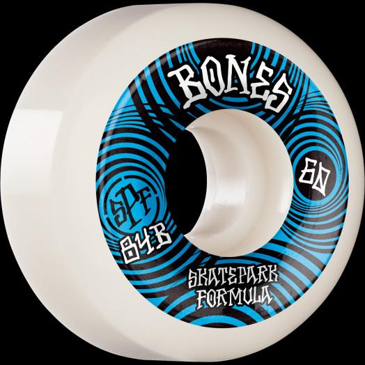 BONES WHEELS SPF Skateboard Wheels Ripples 60mm P5 Sidecut 84B 4pk White