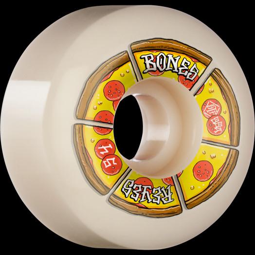 BONES WHEELS PRO STF Skateboard Wheels Reyes Pipin Hot 54mm V6 Wide-Cut 99a 4pk