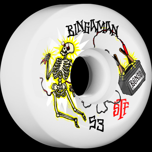 BONES WHEELS STF Pro Bingaman Zapped Skateboard Wheels V5 Sidecut 53mm 4pk