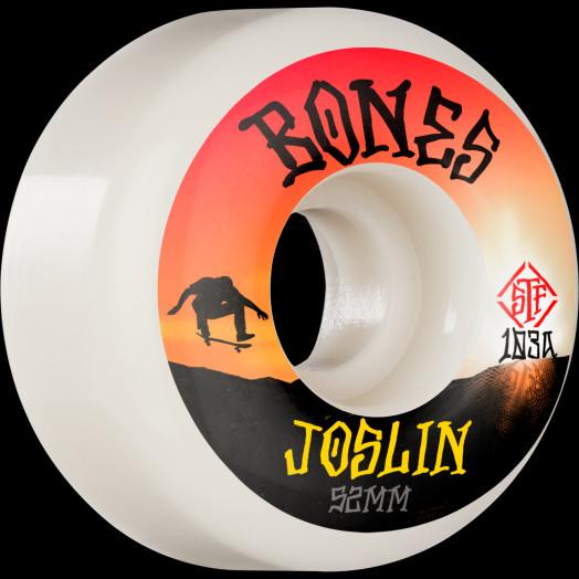 BONES WHEELS PRO STF Skateboard Wheels Joslin Sunset 52mm V1 Standard 103A 4pk