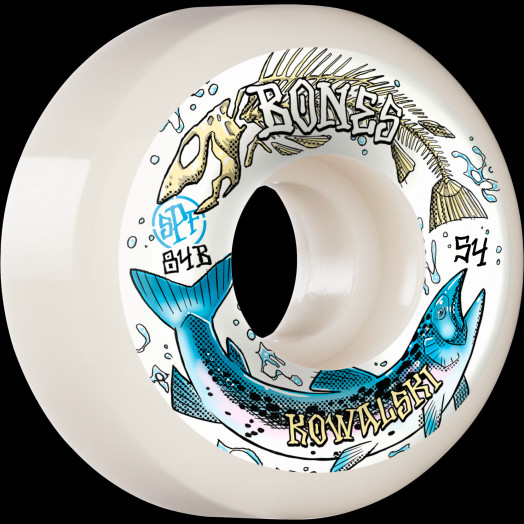 BONES WHEELS PRO SPF Skateboard Wheels Kowalski Salmon Spawn 54mm P5 Sidecut 84B 4pk