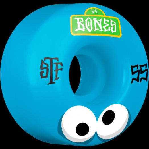 BONES WHEELS STF Googly Blues Skateboard Wheels V4 55mm 103A 4pk