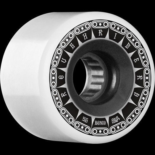 BONES WHEELS ATF Rough Rider Tank Skateboard Wheels 56mm 80a 4pk White