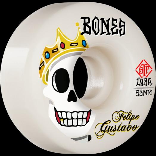 BONES WHEELS PRO STF Skateboard Wheels Gustavo Notorious 53mm V1 Standard 103A 4Pk