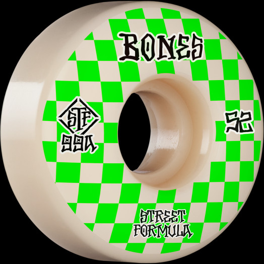 BONES WHEELS STF Skateboard Wheels Patterns 52 V3 Slims 99A 4pk