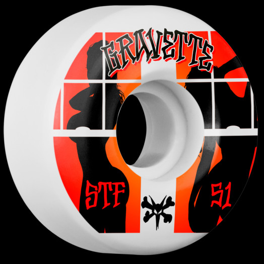 BONES WHEELS STF Pro Gravette Peeps Skateboard Wheels V2 51mm 103A 4pk