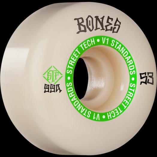 BONES WHEELS STF Skateboard Wheels Ninety-Nines 53mm V1 Standard 99a 4pk