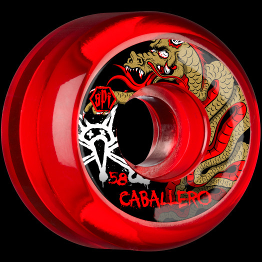 a6a053ad5bdaa BONES WHEELS SPF Pro Caballero Dragon 58x33 P5 Skateboard Wheels 84B 4pk  Clear Red - BONES WHEELS
