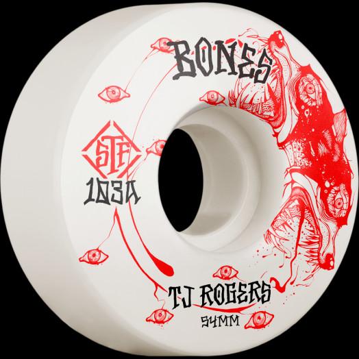 BONES WHEELS PRO STF Skateboard Wheels Rogers Spirit Wolf 54mm V3 Slims 103A 4pk