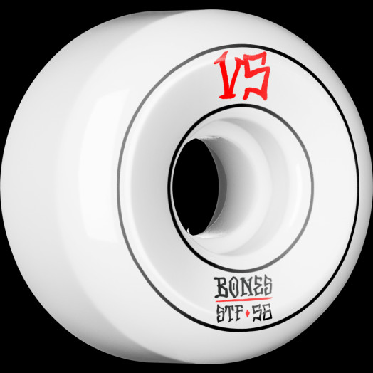 BONES WHEELS STF Annuals Skateboard Wheels Sidecuts 56mm 4pk White