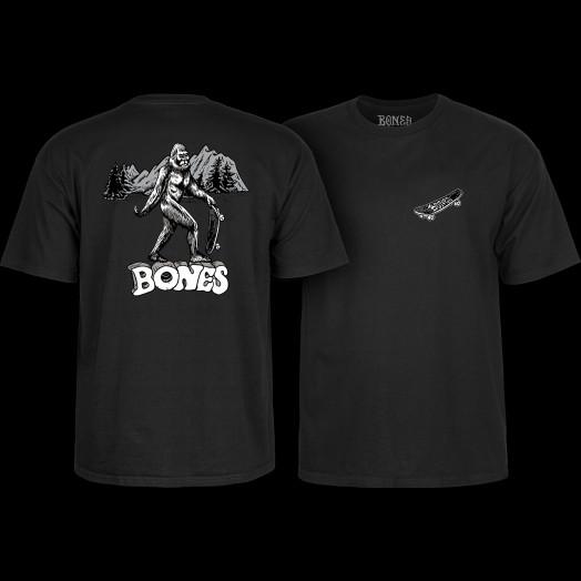 BONES WHEELS Heritage Big B T-Shirt Black