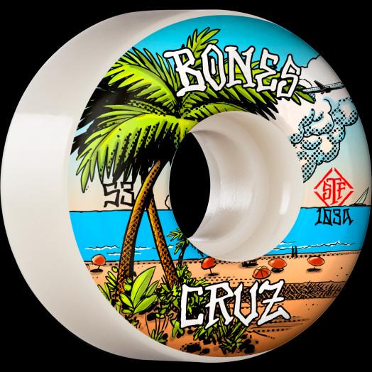 BONES WHEELS PRO STF Skateboard Wheels Cruz Buena Vida 53mm V2 Locks 103A 4pk