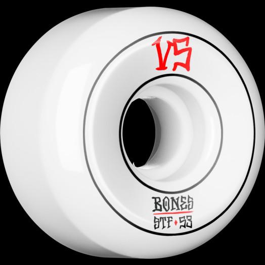 BONES WHEELS STF Annuals Skateboard Wheels Sidecuts 53mm 4pk White