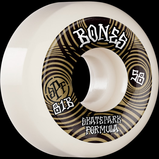 BONES WHEELS SPF Skateboard Wheels Ripples 58mm P5 Sidecut 81B 4pk White