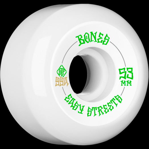 BONES WHEELS STF Easy Streets Skateboard Wheels V5 Sidecut 53mm 99a 4pk