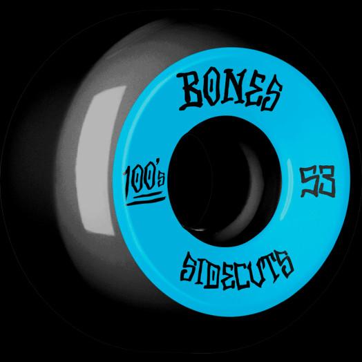 BONES WHEELS 100 #2 V5 Skateboard Wheel 53mm 4pk Black