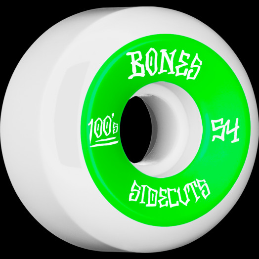 BONES WHEELS 100 #2 V5 Skateboard Wheel 54mm 4pk White V5 Sidecut