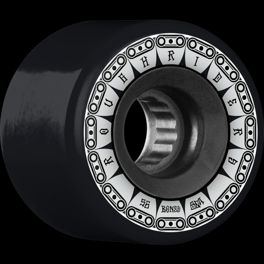 BONES WHEELS ATF Rough Rider Tank Skateboard Wheels 56mm 80a 4pk Black
