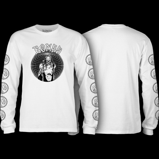 BONES WHEELS Terror Nacht Nightmare Longsleeve T-shirt White