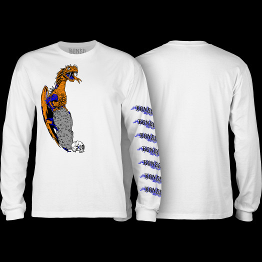BONES WHEELS Cody Lockwood Dragon Longsleeve T-shirt White