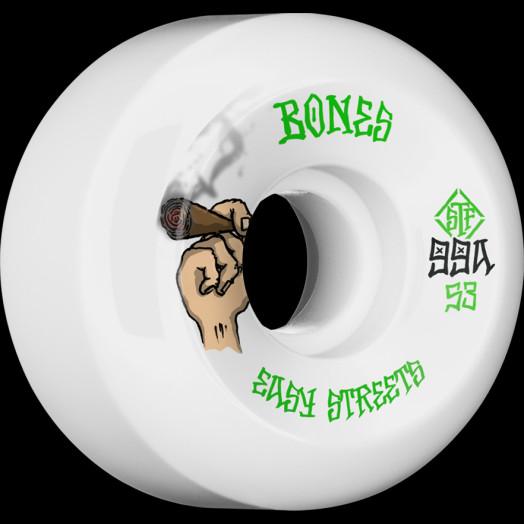 BONES WHEELS STF Easy Life Skateboard Wheels Easy Streets Sidecuts 53mm 4pk White