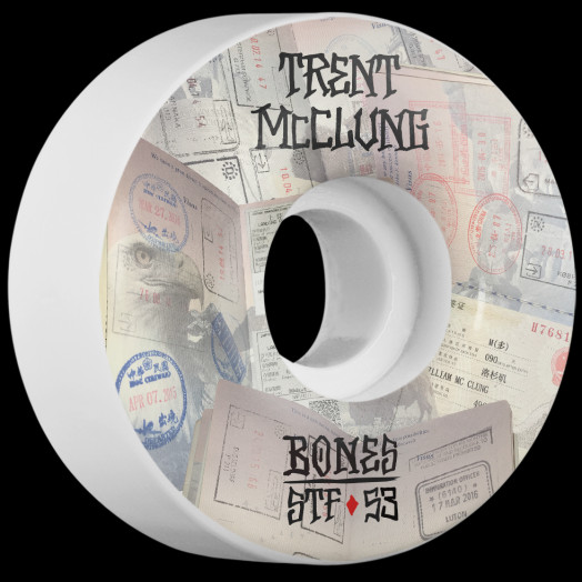 BONES STF Pro McClung Passport 53x31 V1 Skateboard Wheel 83B 4pk