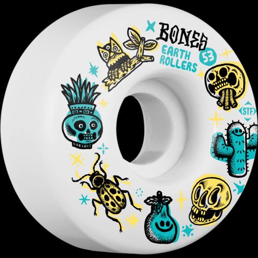 BONES WHEELS STF Earth Rollers Skateboard Wheels V1 53MM 103A 4pk