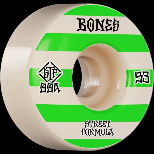 BONES WHEELS STF Skateboard Wheels Patterns 53 V4 Wide 99A 4pk