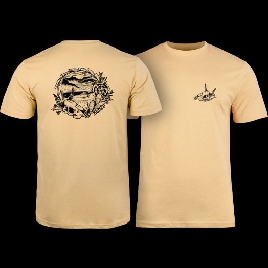 BONES WHEELS Desert Bowl T-shirt Tan