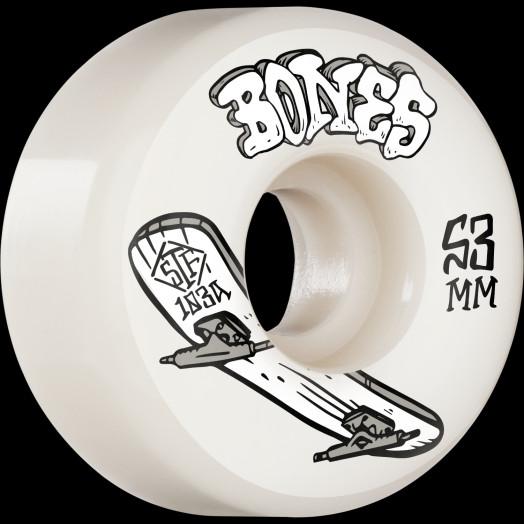 BONES WHEELS STF Skateboard Wheels Heritage Boneless 53mm V1 Standard 103A 4pk
